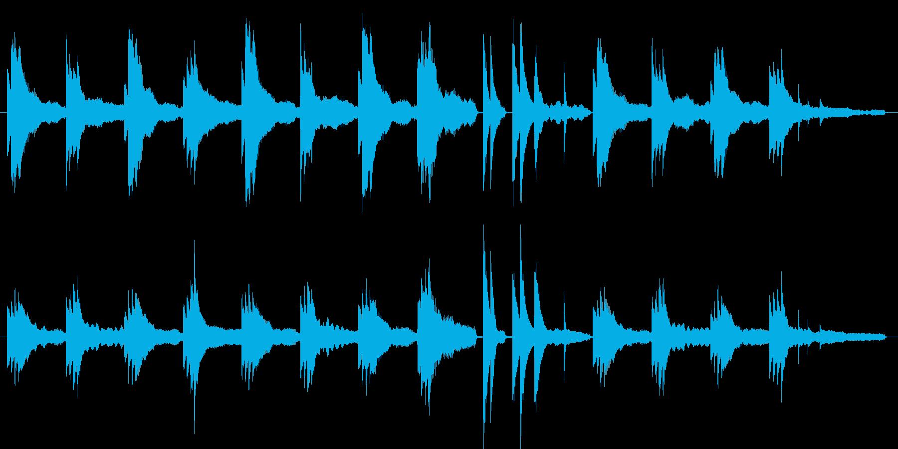 怪しい、不穏な空気のピアノソロ劇伴の再生済みの波形