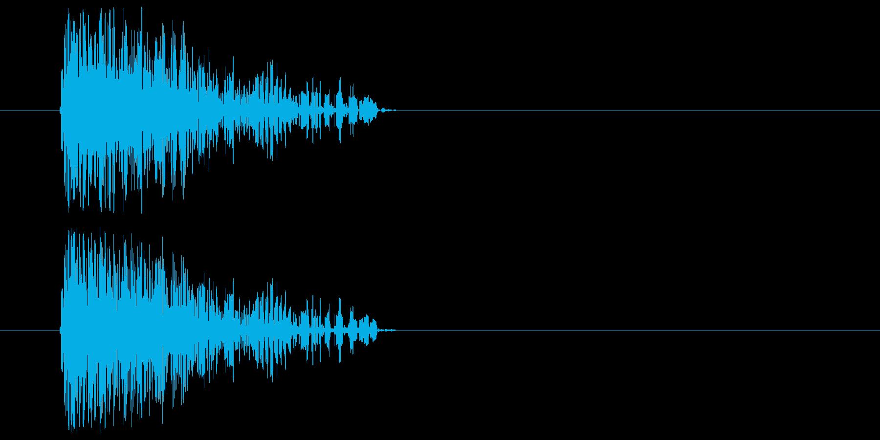 ファミコン風_敵攻撃音の再生済みの波形
