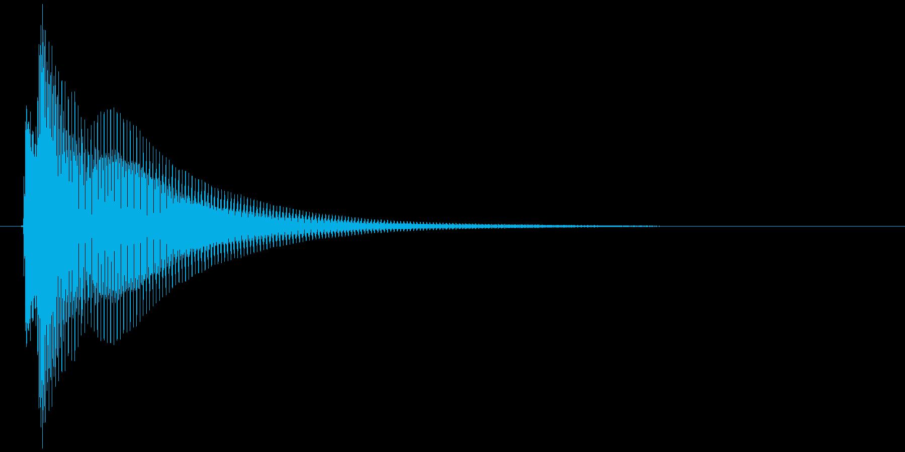かわいいタップ音の再生済みの波形