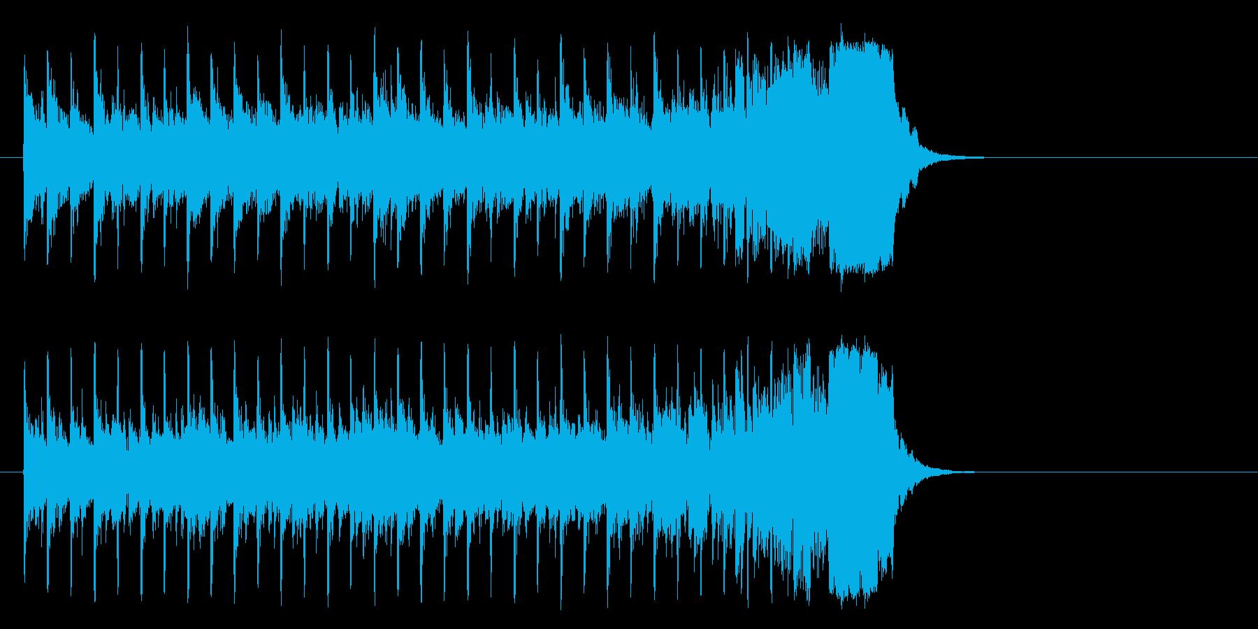 充実感を感じる清涼ポップ(イントロ)の再生済みの波形