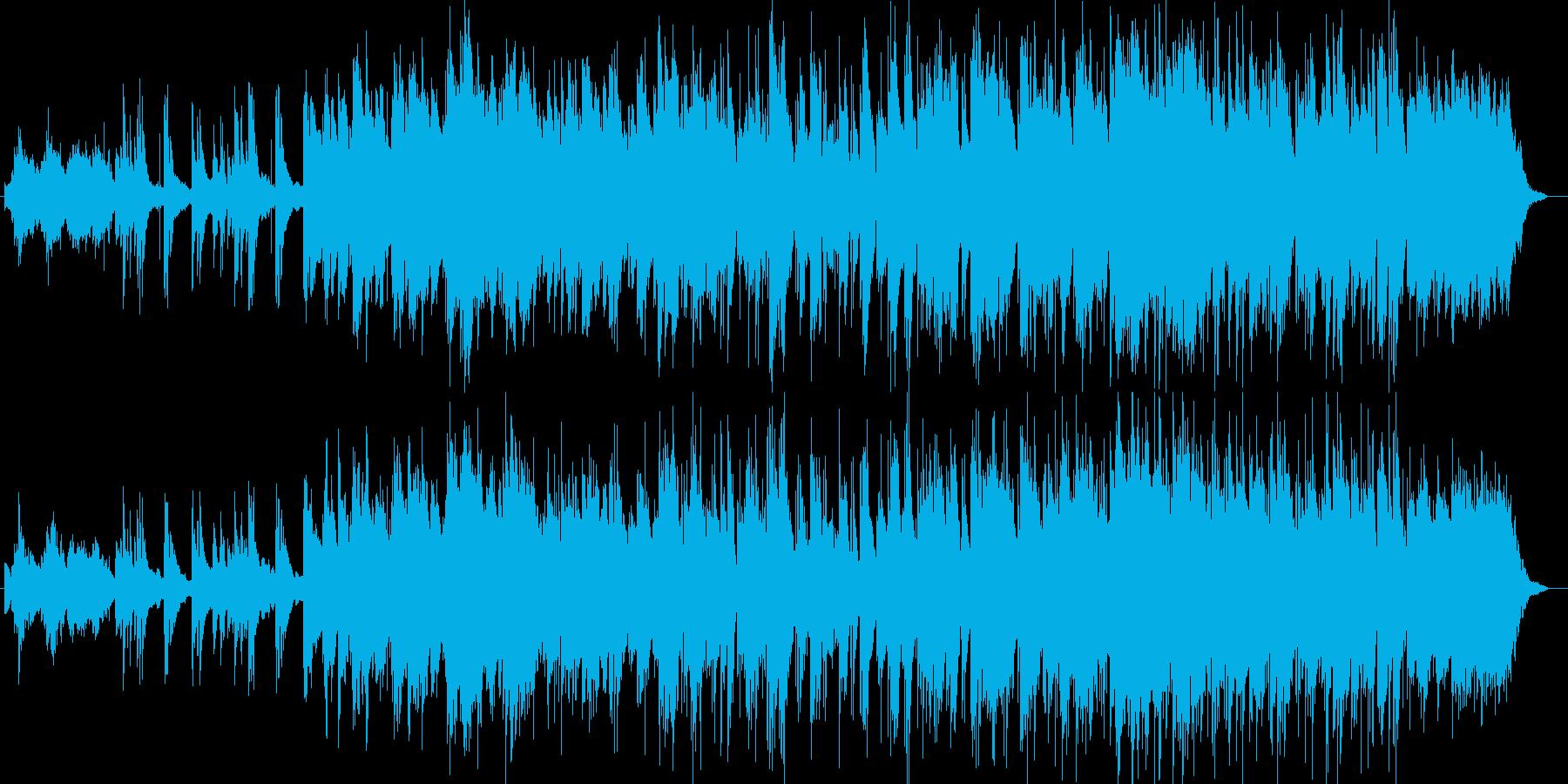 ジャズ風ストリングスシンセサイザー曲の再生済みの波形