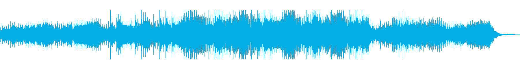 幻想的でお洒落な落ち着いたBGMの再生済みの波形