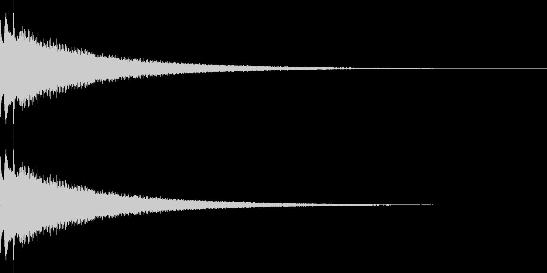 鐘、チャイム、ベルの未再生の波形