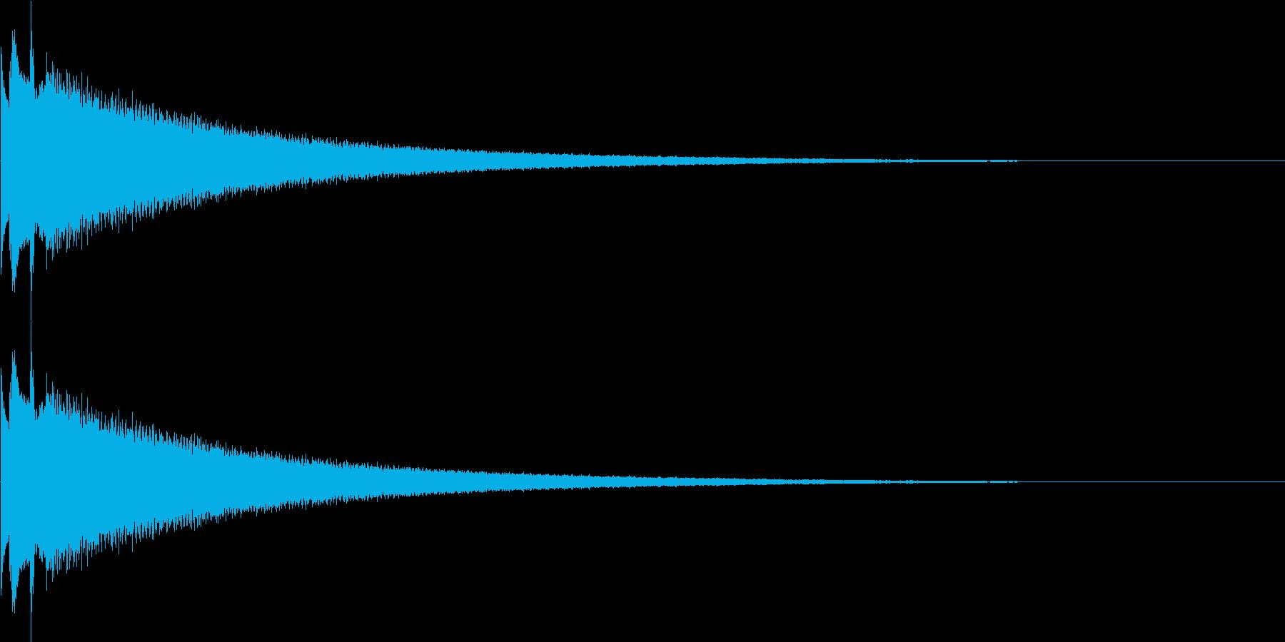鐘、チャイム、ベルの再生済みの波形