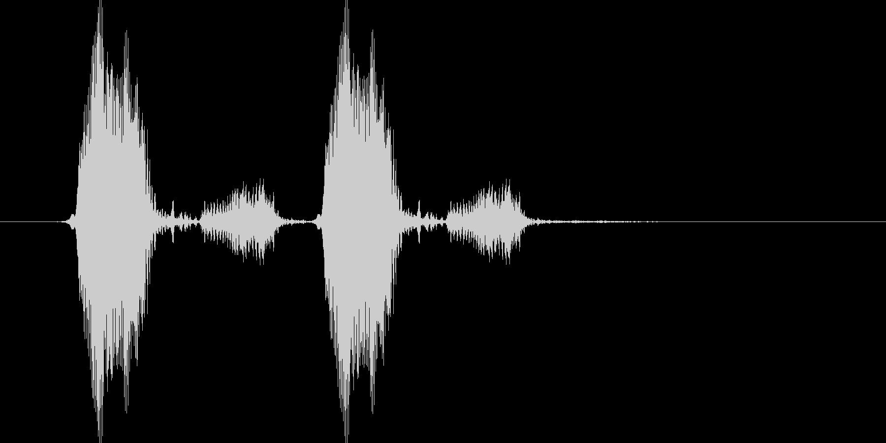 きゅっきゅっ(お皿をこする)の未再生の波形