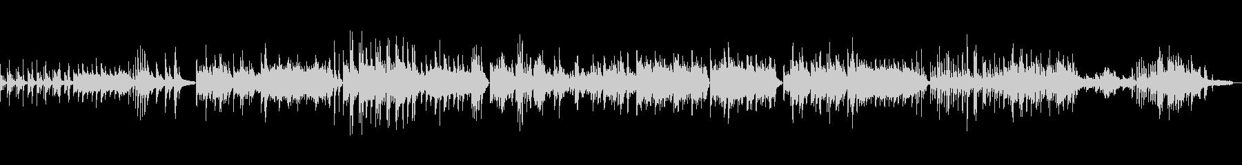 リラックス 和テイストピアノバラードの未再生の波形