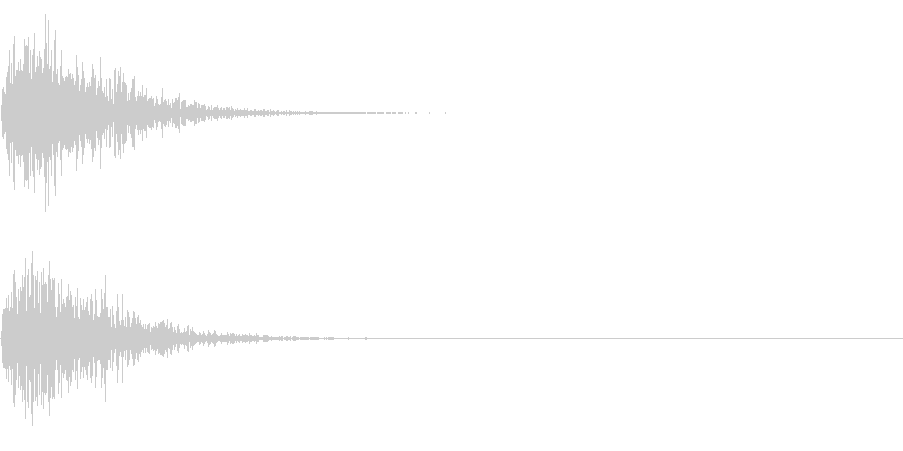 鈴(神楽鈴) 和風 ジングル 01の未再生の波形