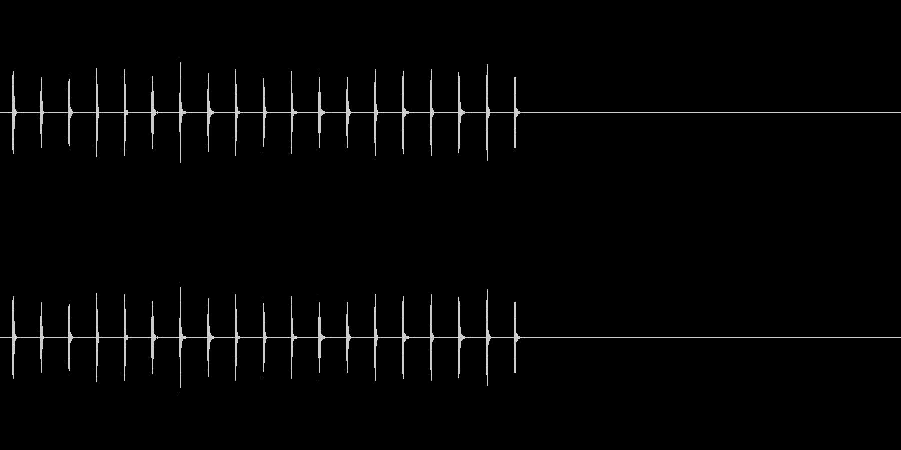 パラパラパラパラ(手駒を並べる音)の未再生の波形