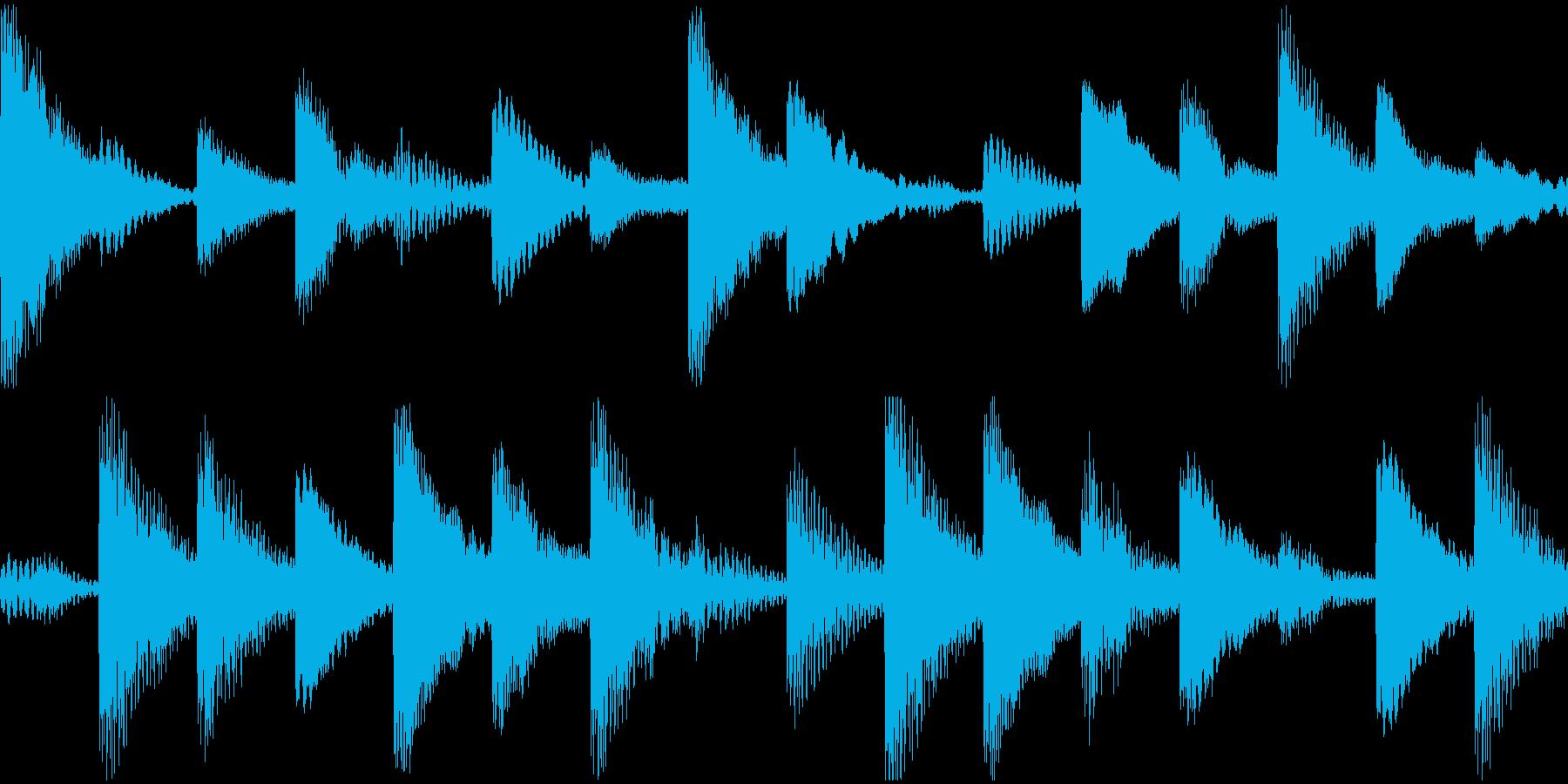 UFO飛来・吸着音・浮遊音の再生済みの波形