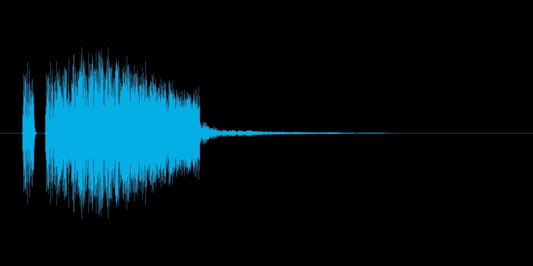クリック音。電子音ぽい。「ティン」の再生済みの波形