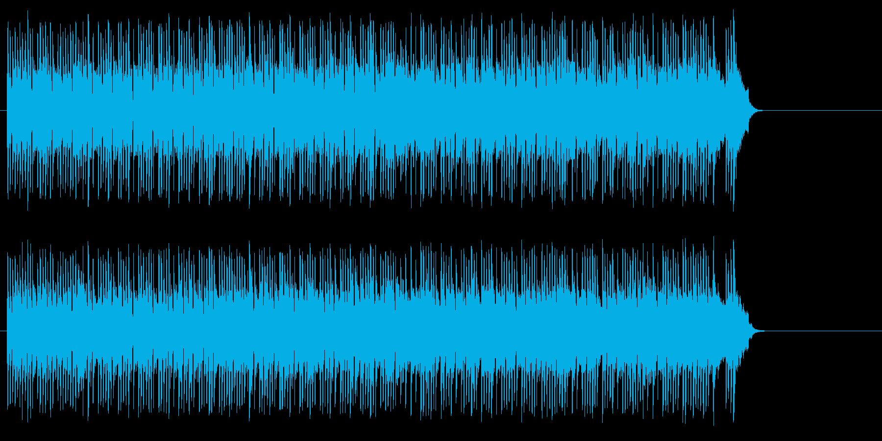 テンポの良いポップ(イントロ~A~サビ)の再生済みの波形