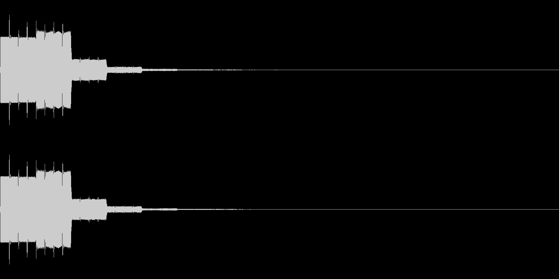 効果音 場面転換や正解の未再生の波形