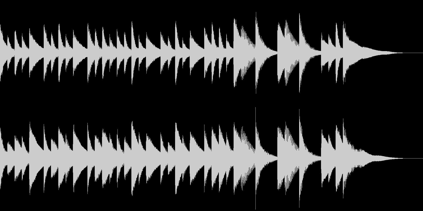 ほのぼのとしたジングルBGMの未再生の波形