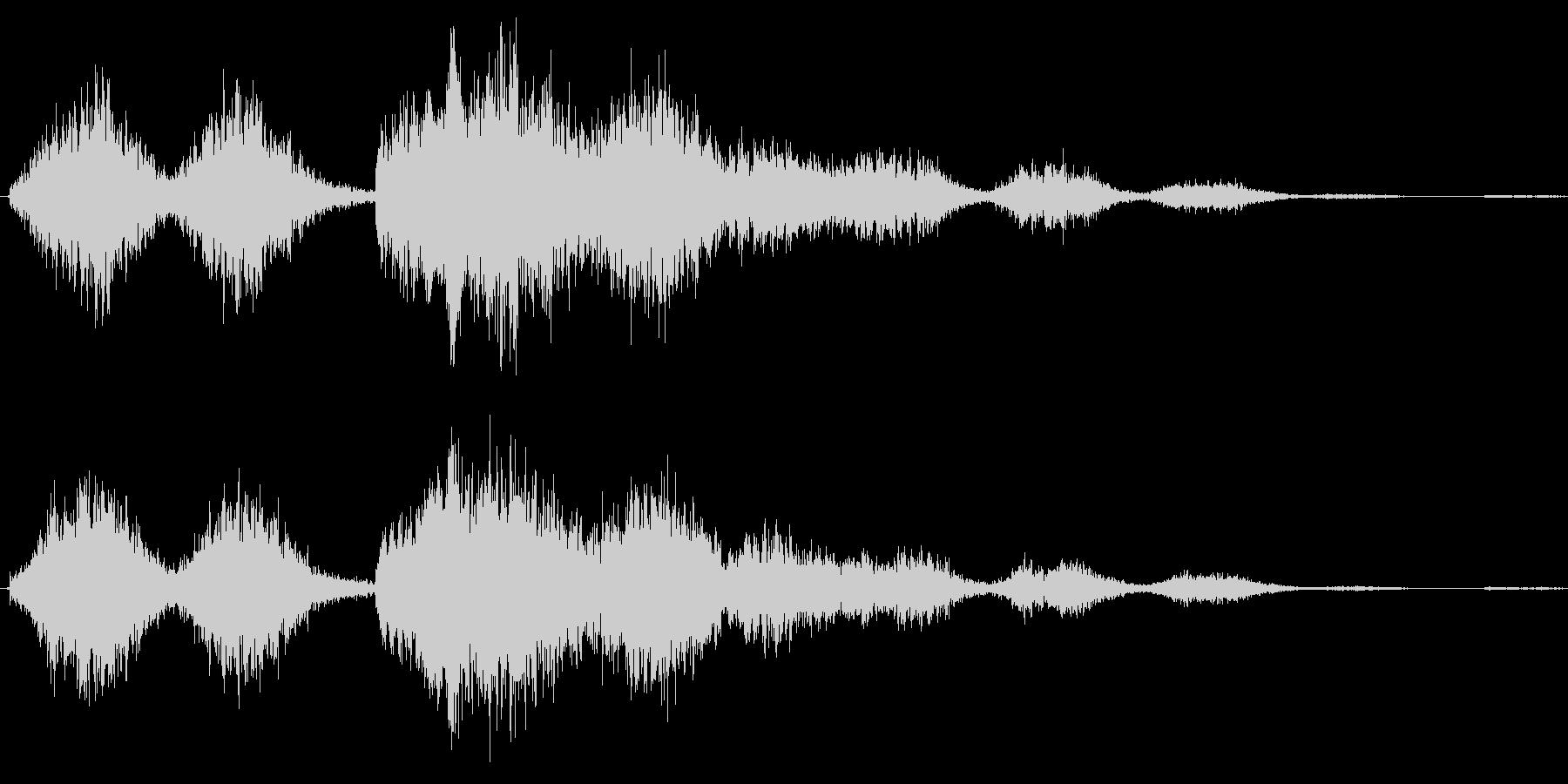 恐怖シリーズ22.怖い鳥の声(複数2)の未再生の波形