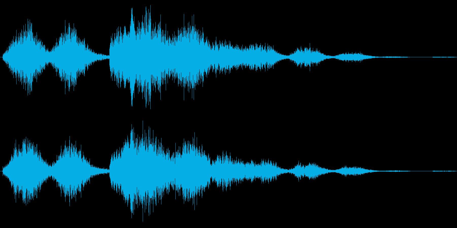 恐怖シリーズ22.怖い鳥の声(複数2)の再生済みの波形