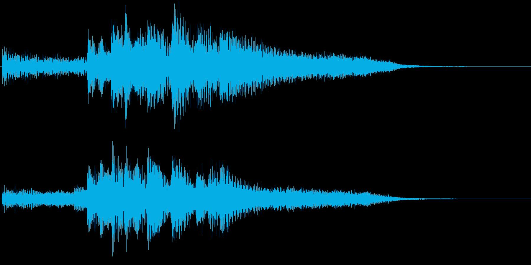 ピアノ不協和音・ホラー・悲劇の再生済みの波形