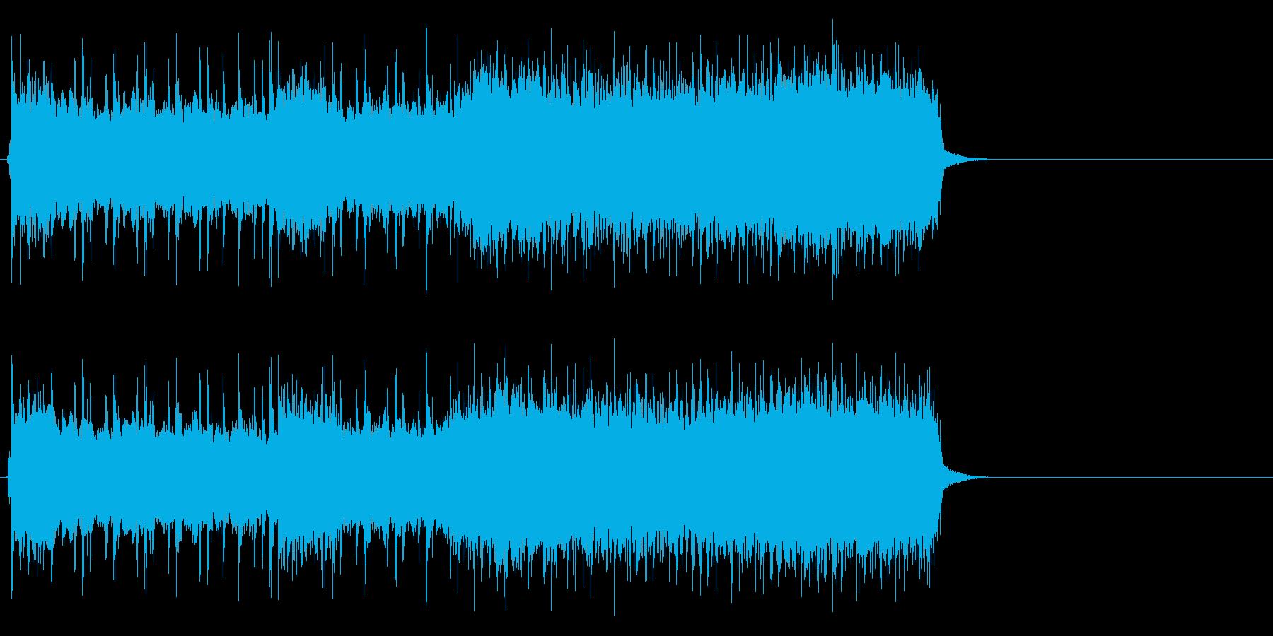 疾走感のあるハードロック(イントロ)の再生済みの波形