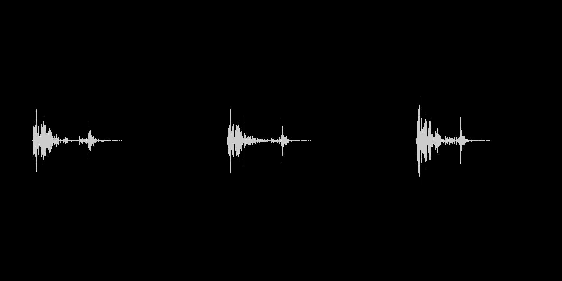 スタンプ押す音の未再生の波形