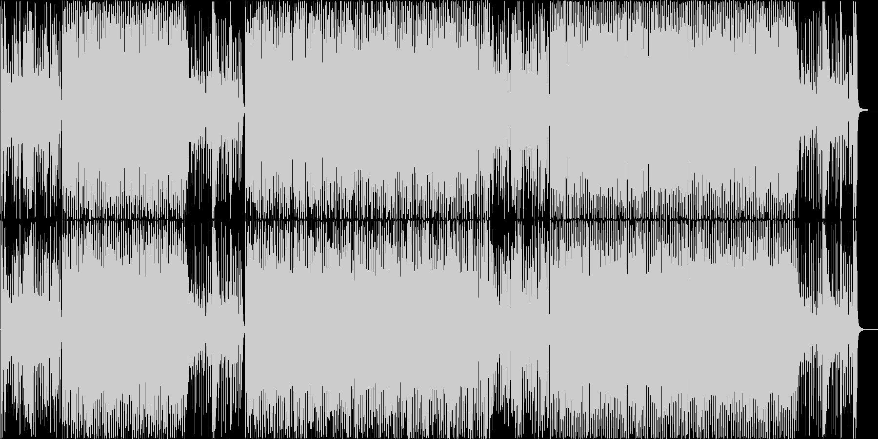 ポップでロックな明るいBGM♪の未再生の波形