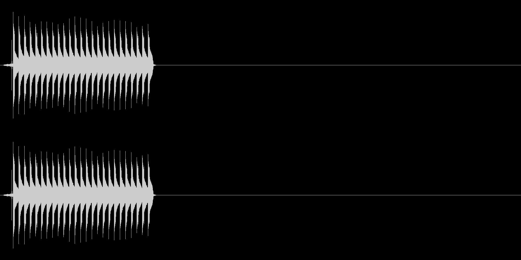 【SE】不正解01(ブー)の未再生の波形