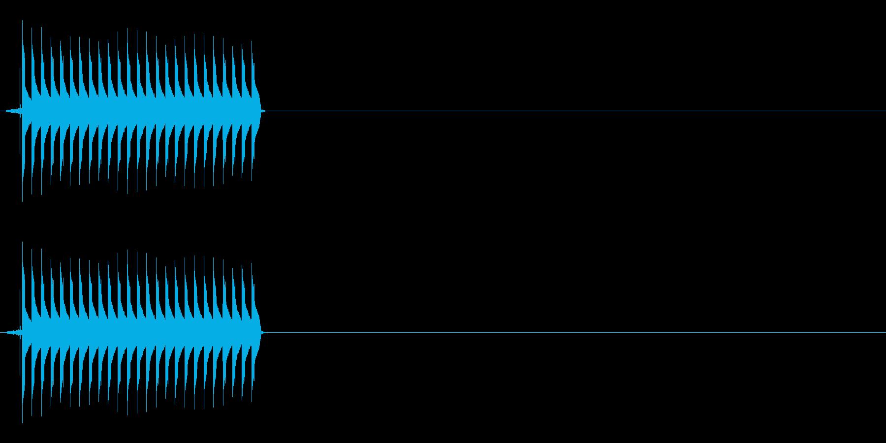 【SE】不正解01(ブー)の再生済みの波形