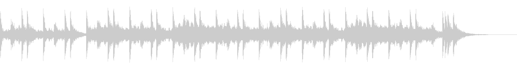 スネアロールとハープのアルペジオの未再生の波形