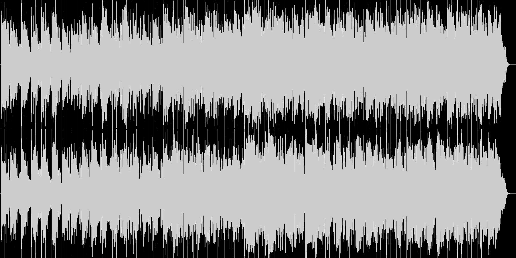旅・紀行番組向けのんびりとしたBGMの未再生の波形