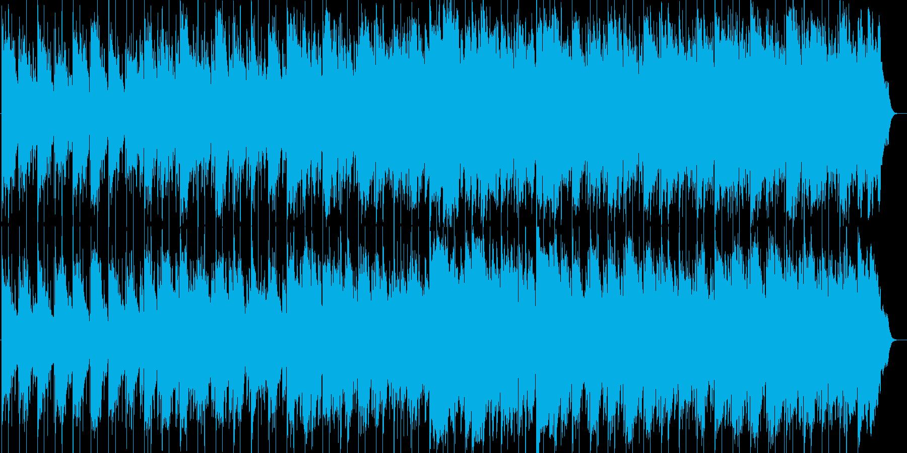 旅・紀行番組向けのんびりとしたBGMの再生済みの波形