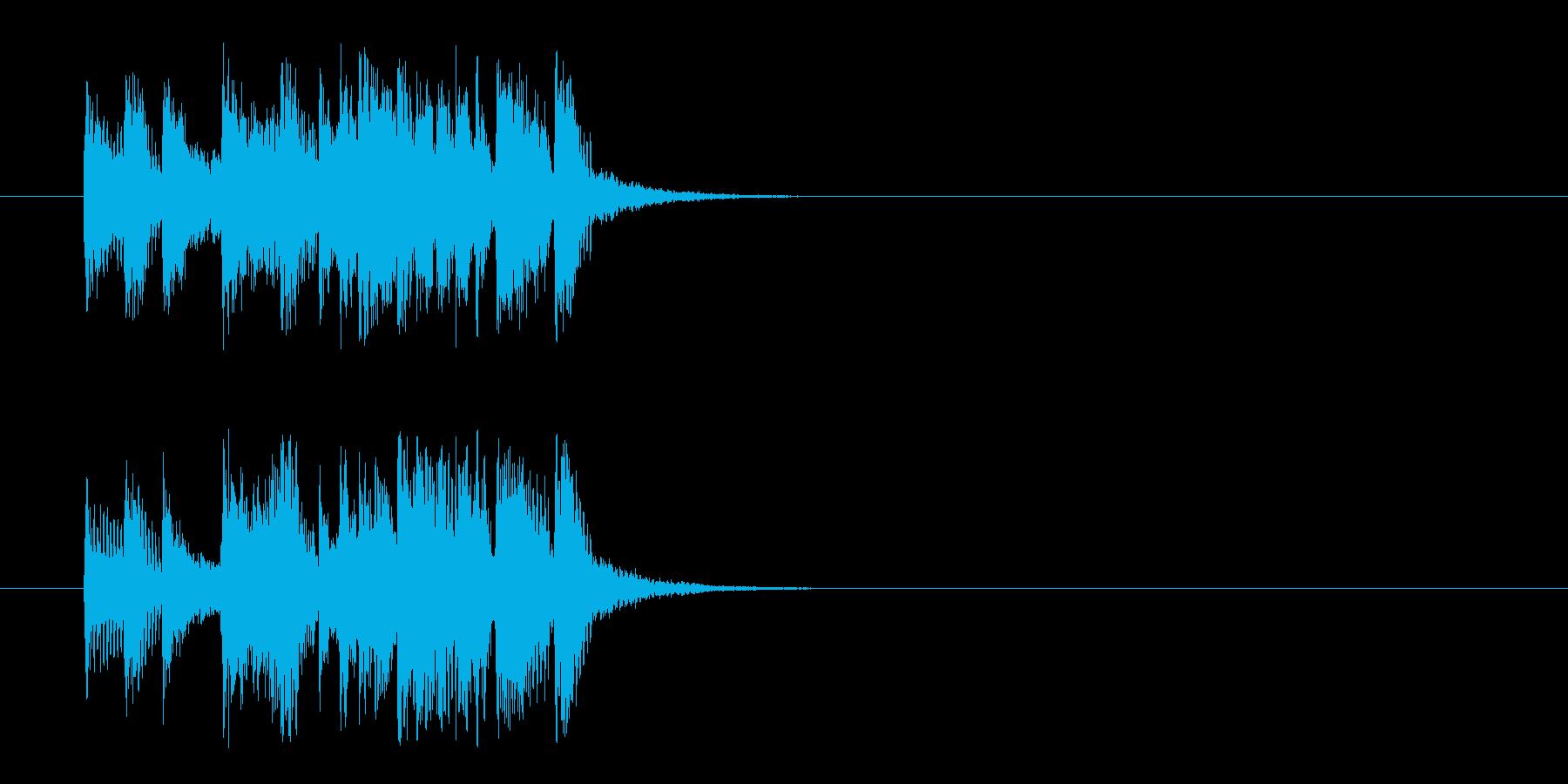 コーナー・タイトル風ポップのジングルの再生済みの波形