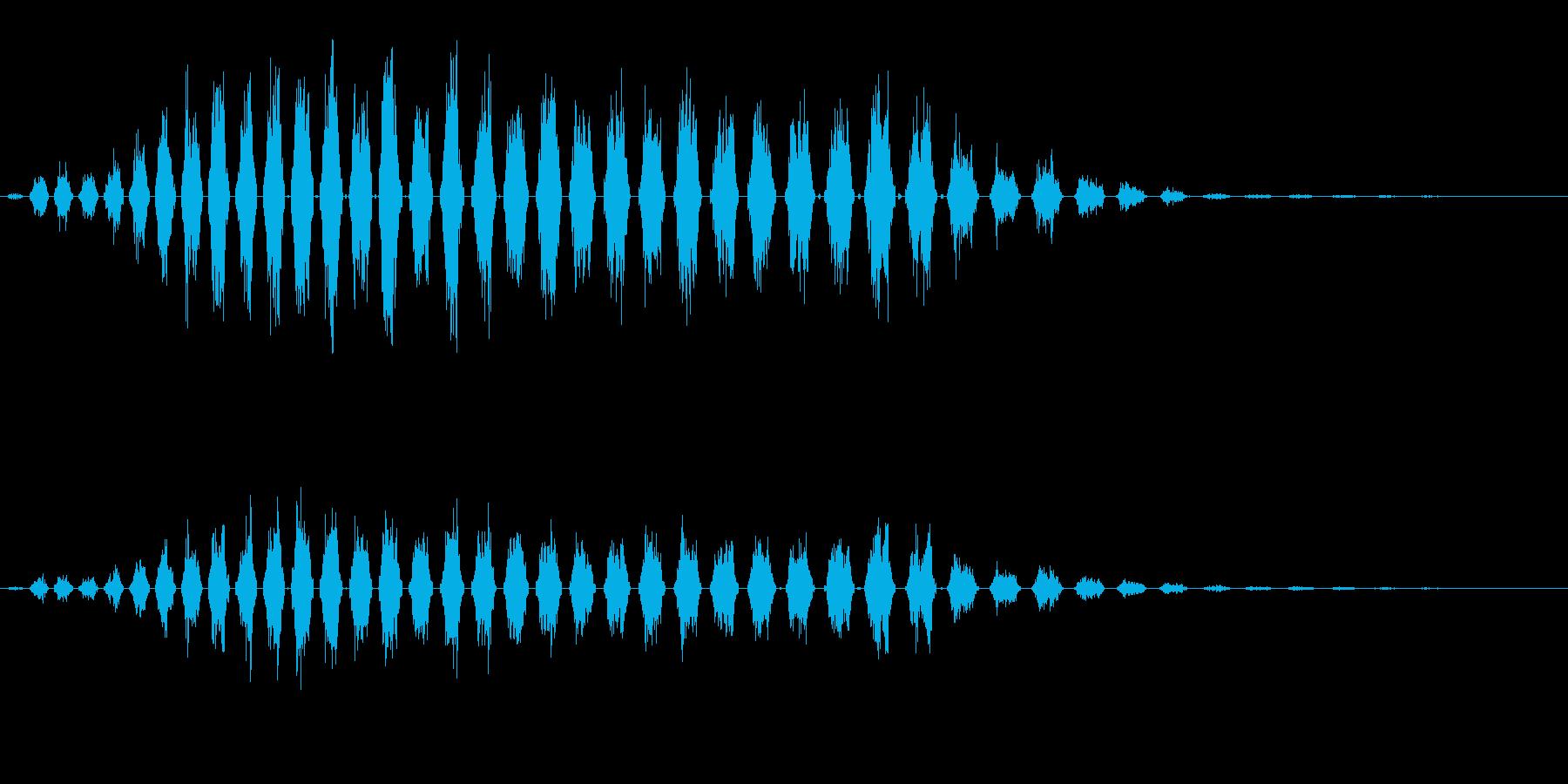 シャララ系ダウン(シュルシュル)の再生済みの波形