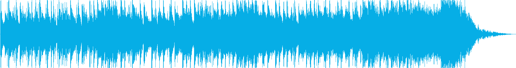 軽快なポップス風のジングルの再生済みの波形