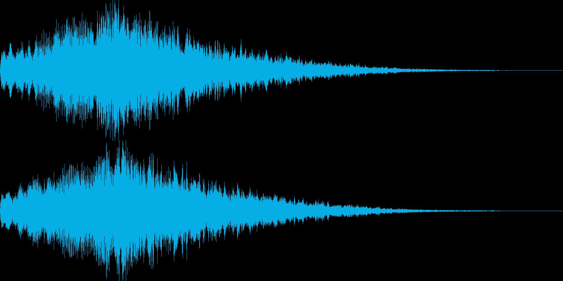 アイキャッチ用ジングル・チャイムの再生済みの波形