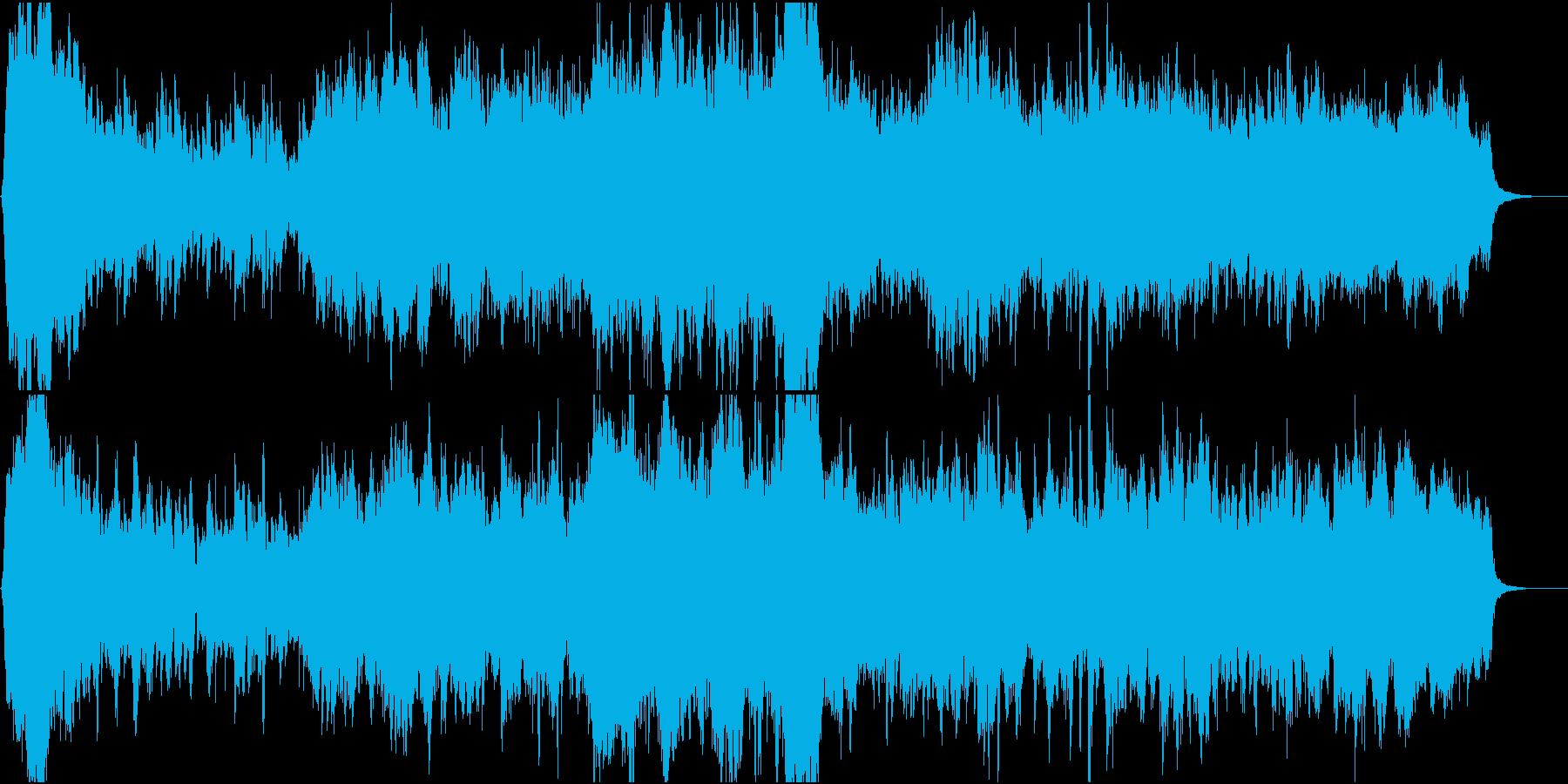 郷愁の場面に優しく前向きなオーケストラ2の再生済みの波形