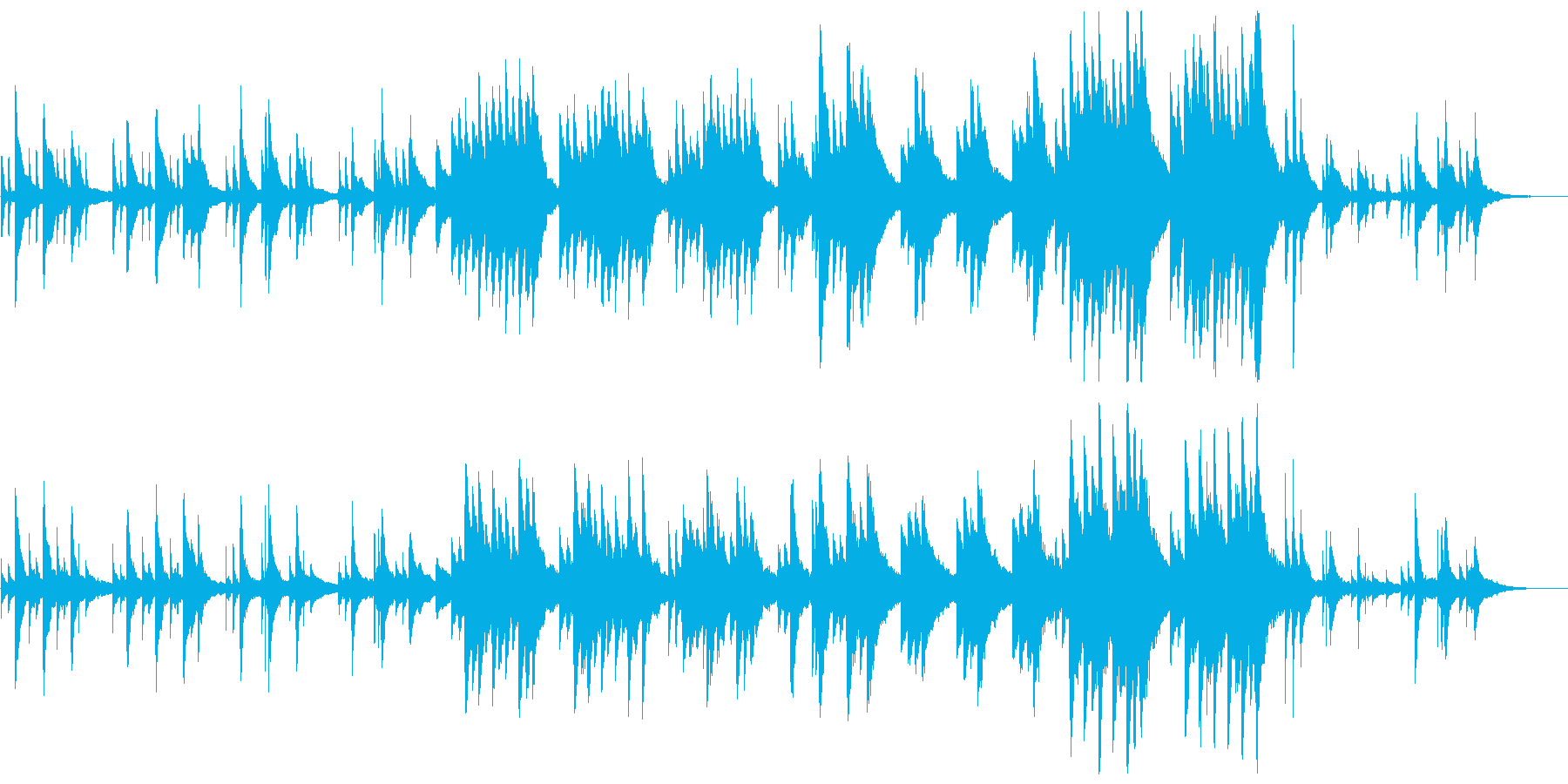 和を意識したピアノ曲の再生済みの波形