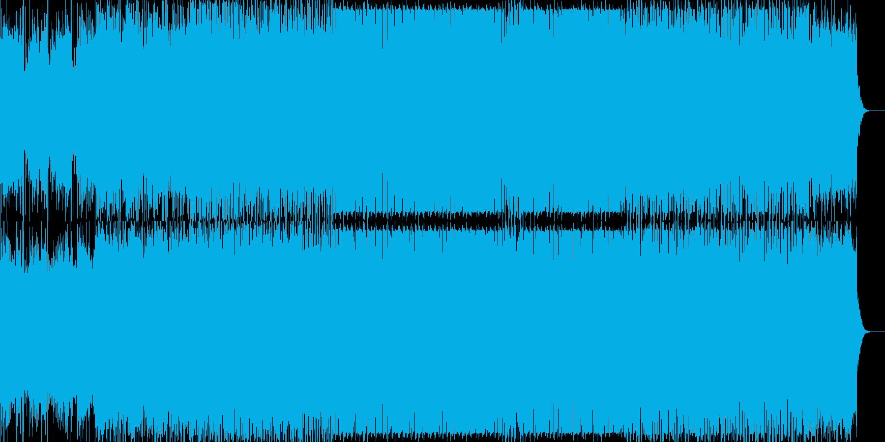 枯葉舞い落ちるイメージのデジタルサウンドの再生済みの波形