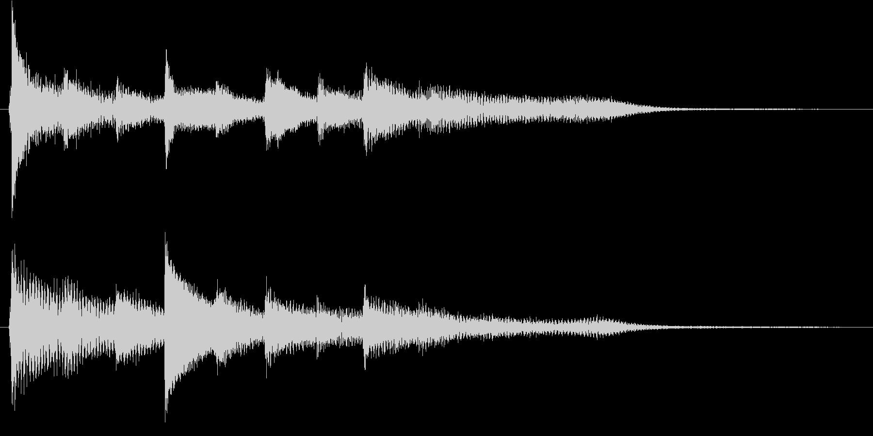 短いピアノ映像用ジングル5の未再生の波形