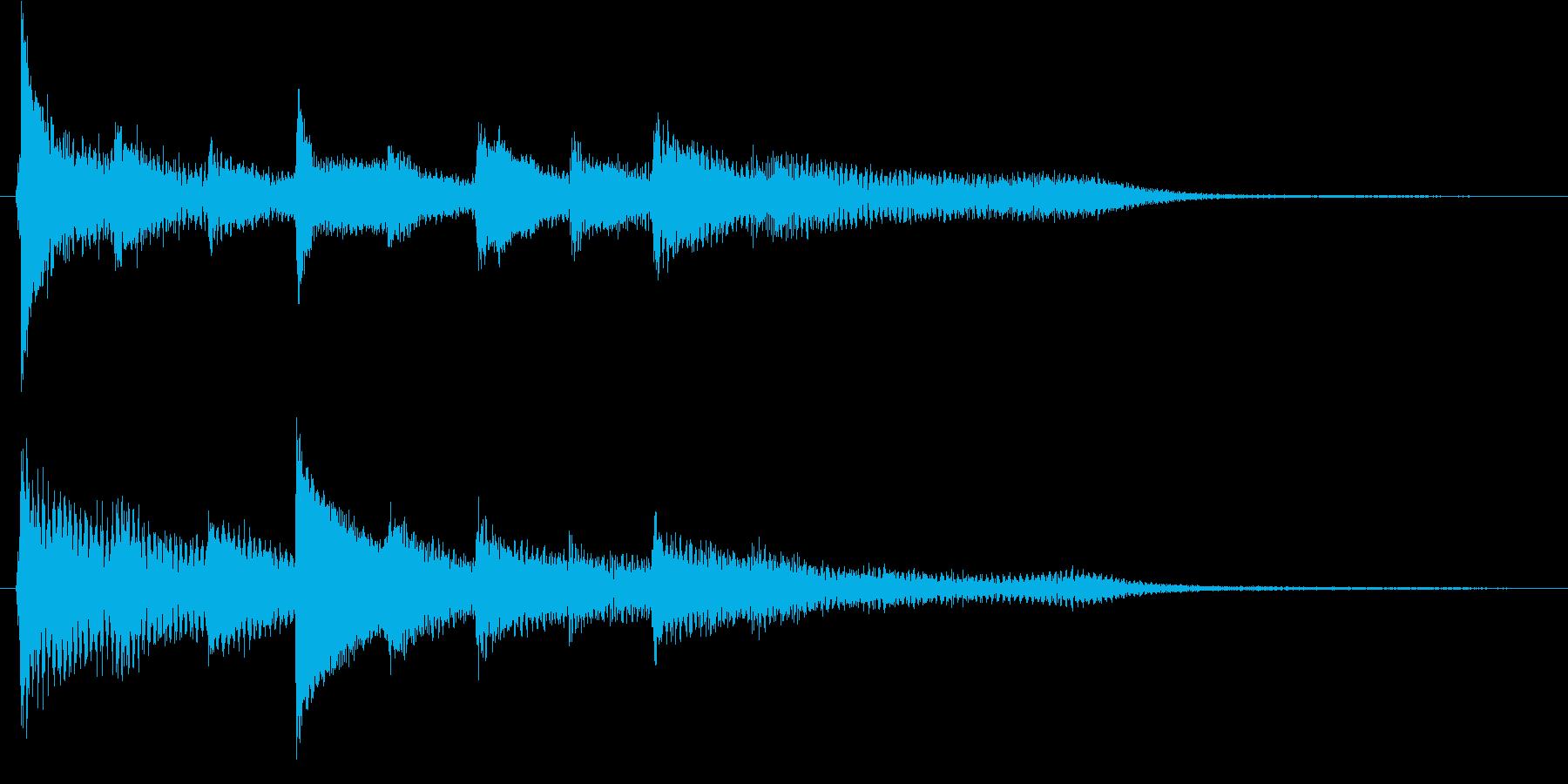 短いピアノ映像用ジングル5の再生済みの波形