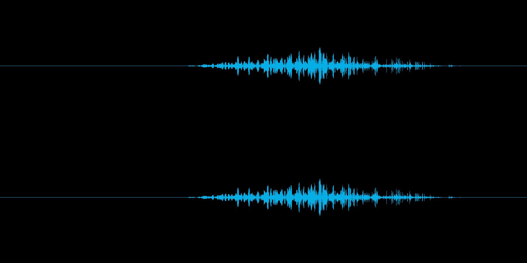 地面を引きずる音の再生済みの波形