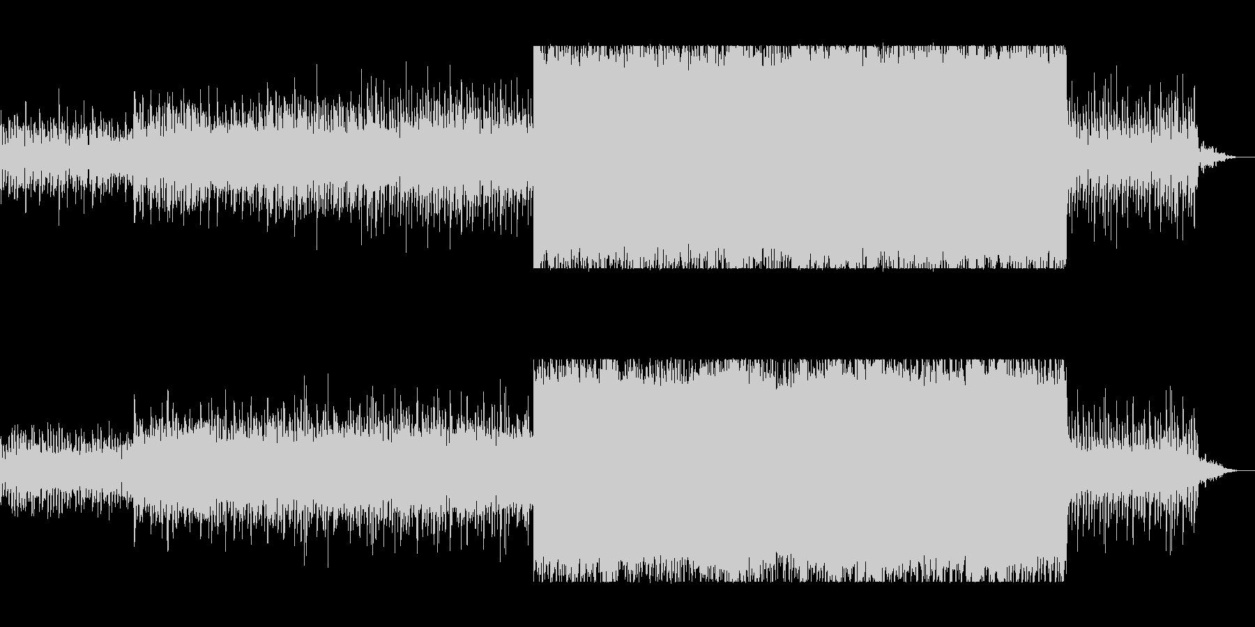 疾走感と透明感のあるピアノサウンドの未再生の波形