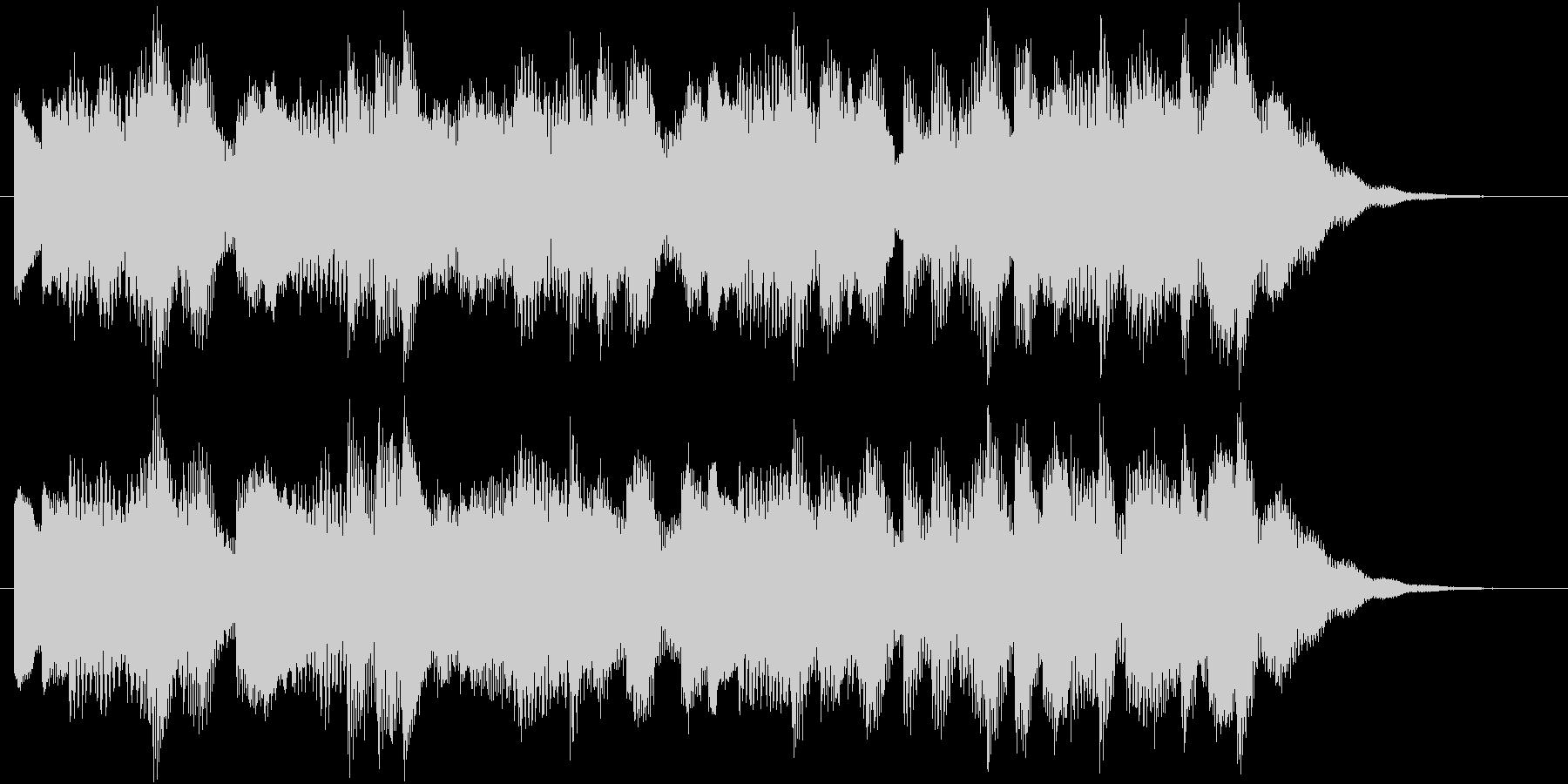 電車の発車メロディー風ジングルの未再生の波形
