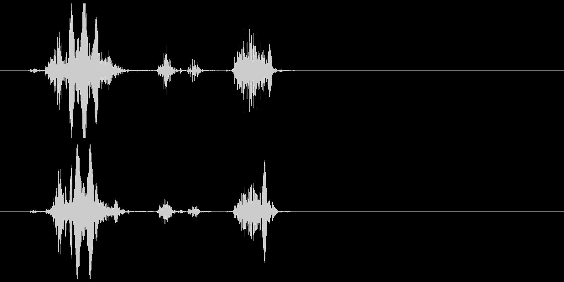 不気味な笑い声 2の未再生の波形