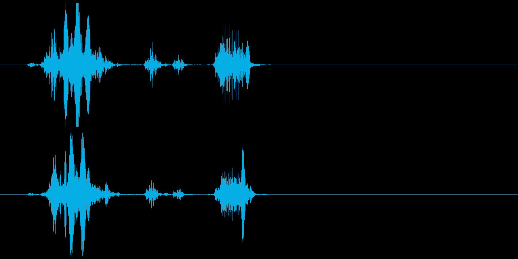 不気味な笑い声 2の再生済みの波形