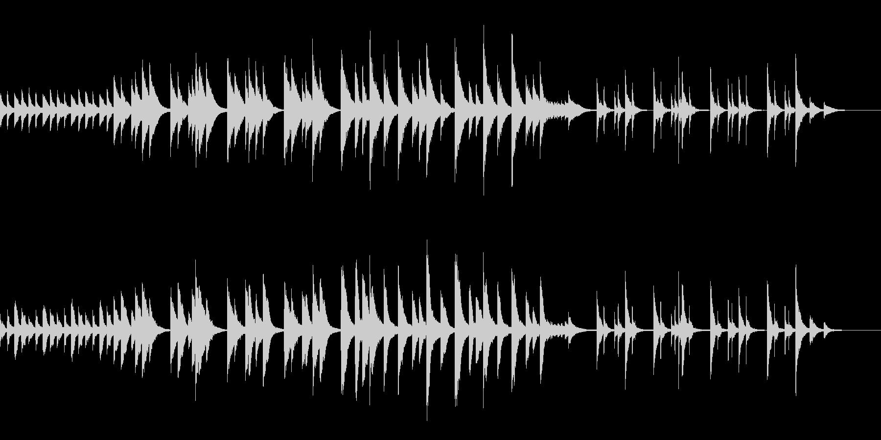 せみ時雨の中響くピアノの旋律の未再生の波形