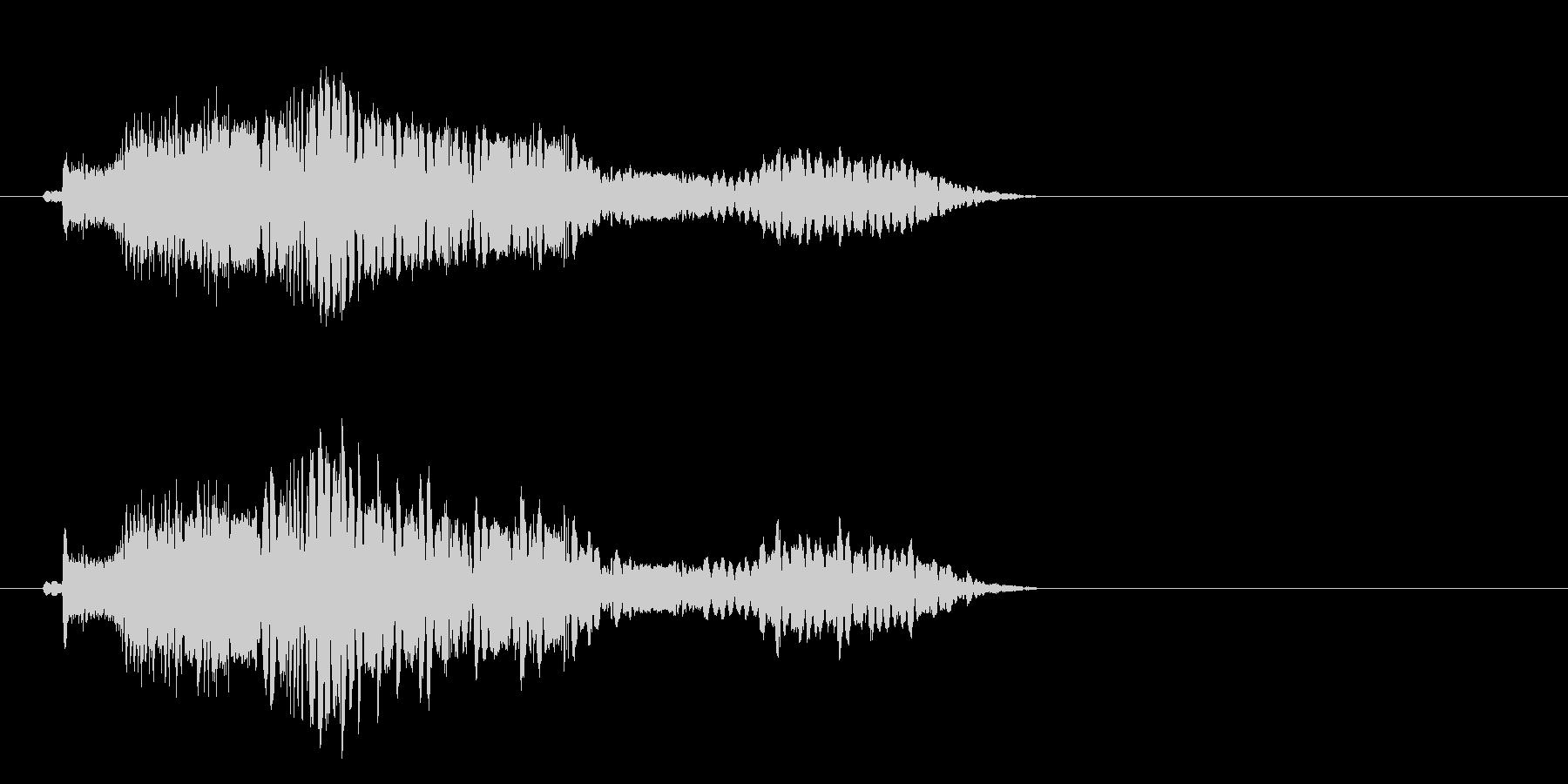 周波数の未再生の波形