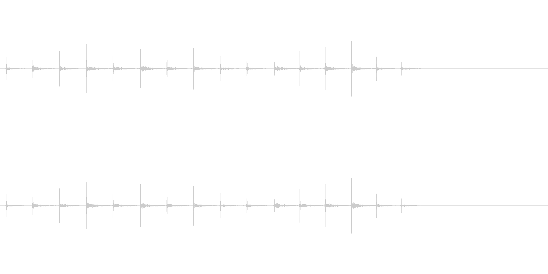 足音(ホラー)の未再生の波形