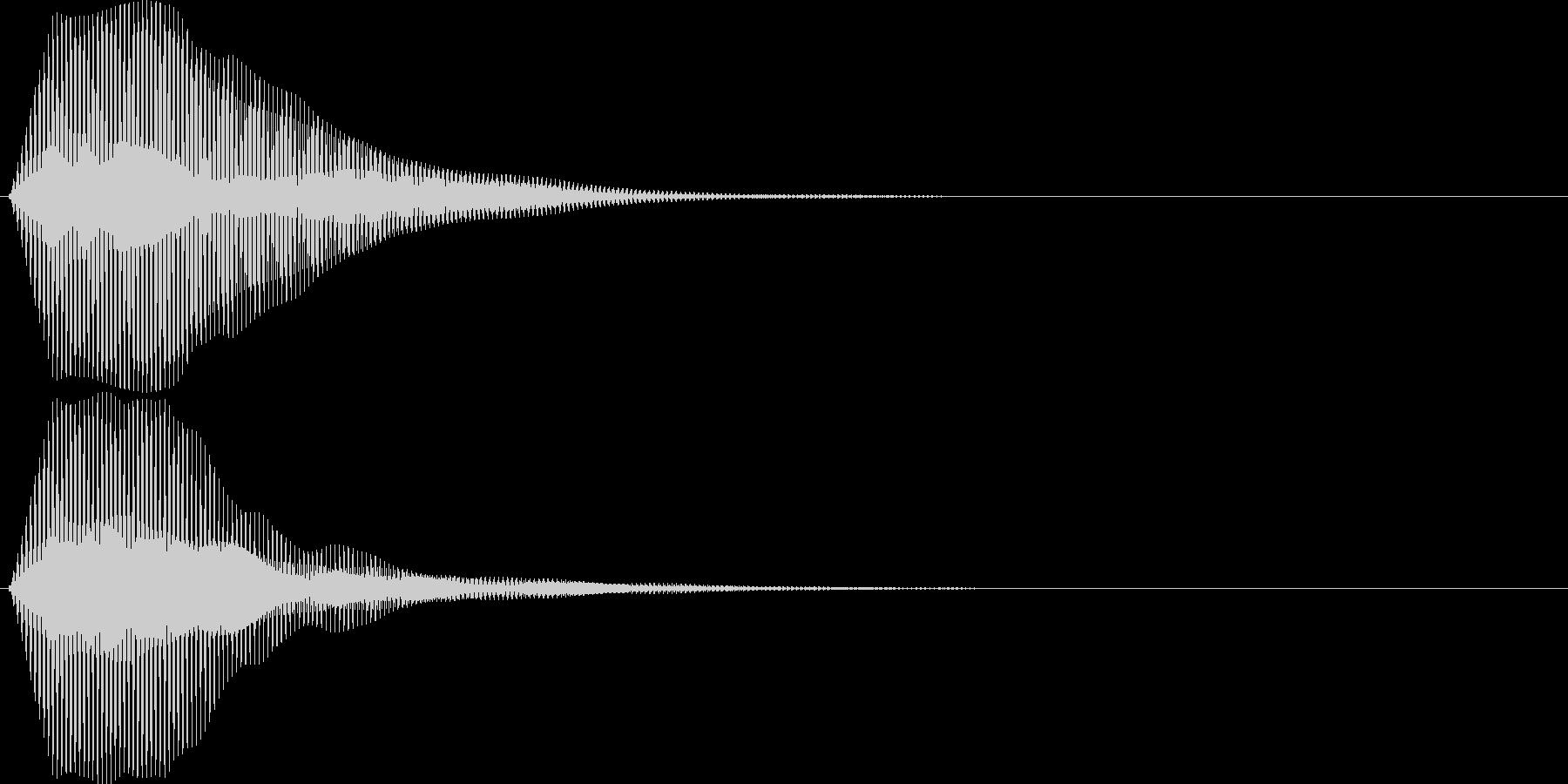 ブゥ。クラクション(トラック・短)の未再生の波形