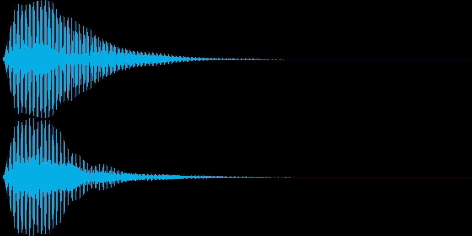 ブゥ。クラクション(トラック・短)の再生済みの波形
