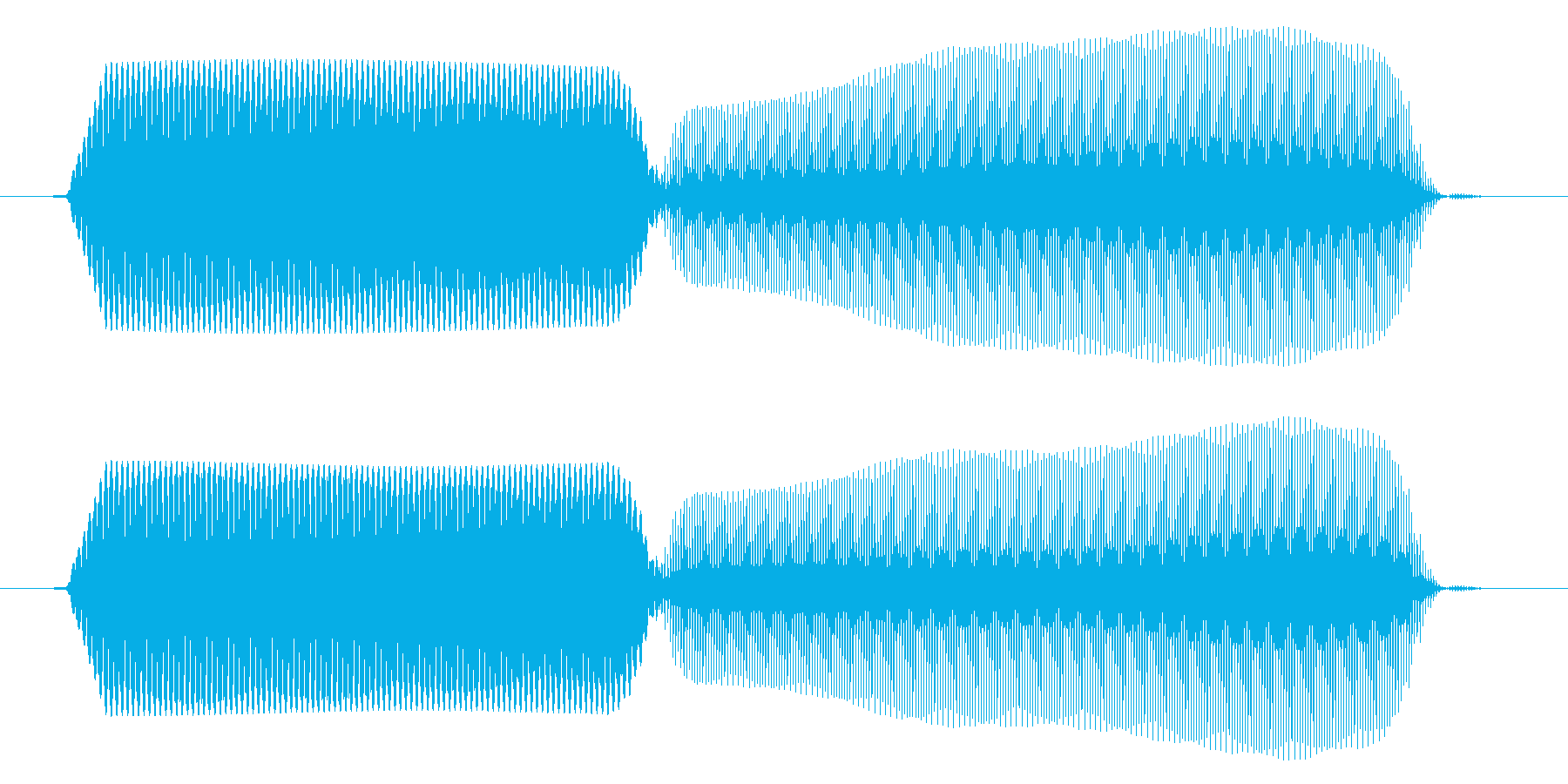 パソコン/決定音/ピコッの再生済みの波形