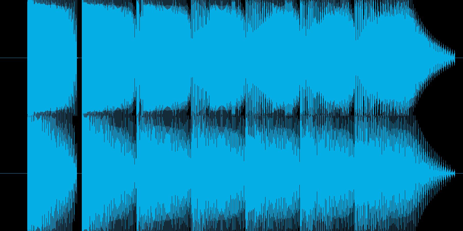 体力が減る音の再生済みの波形