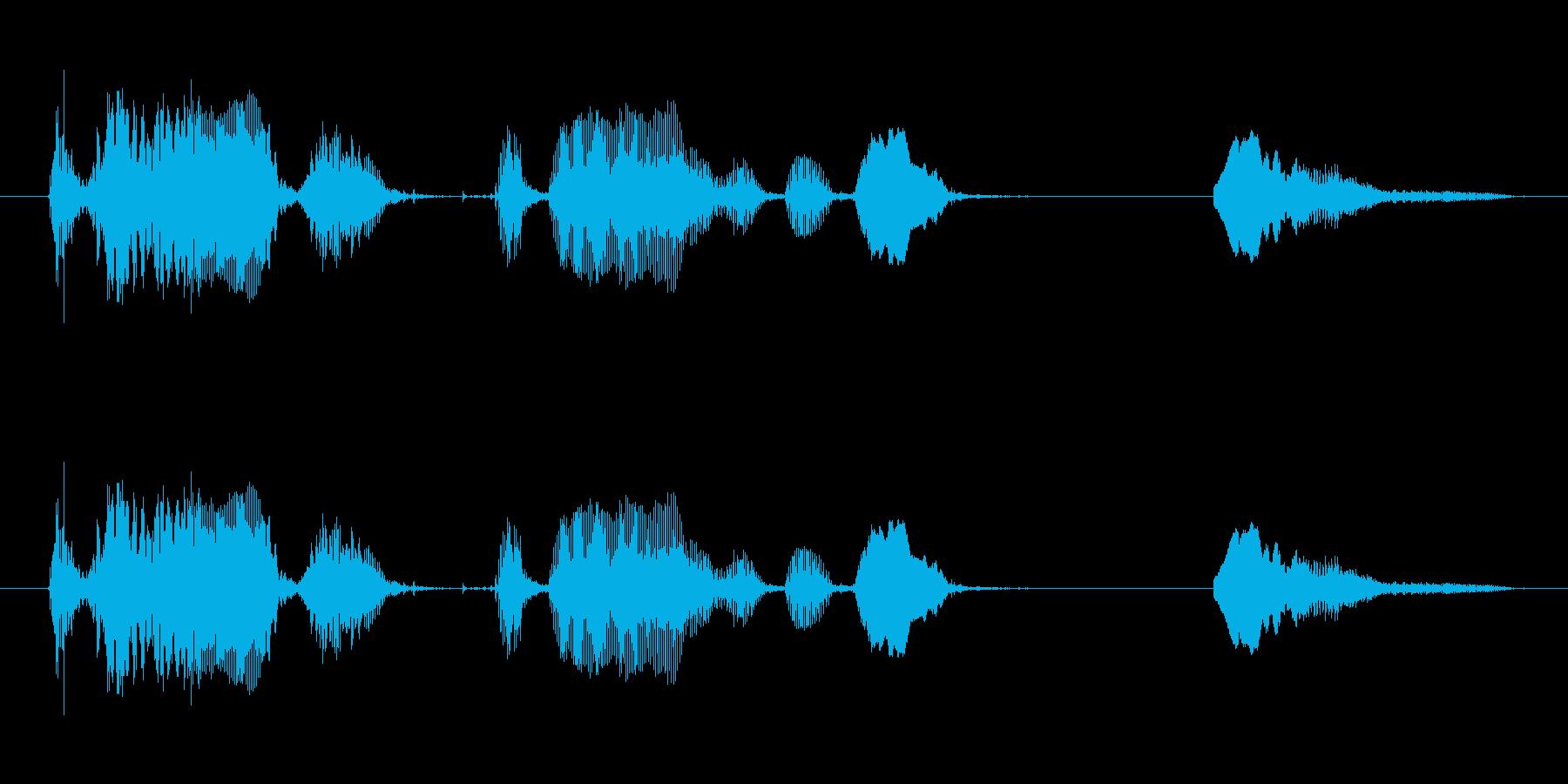 赤ちゃんの自然な笑い声その2の再生済みの波形